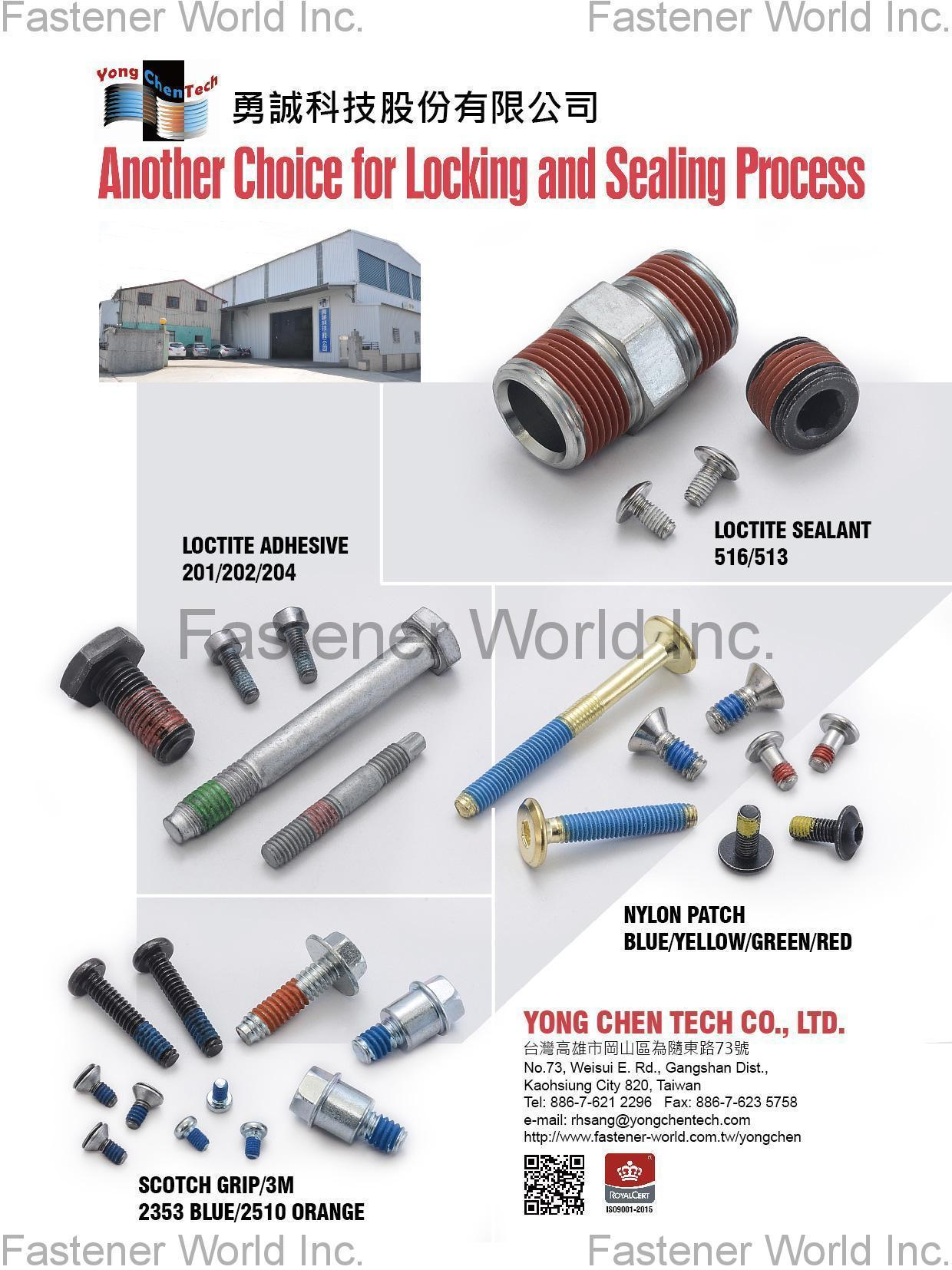 YONG CHEN TECH CO., LTD. Online Catalogues