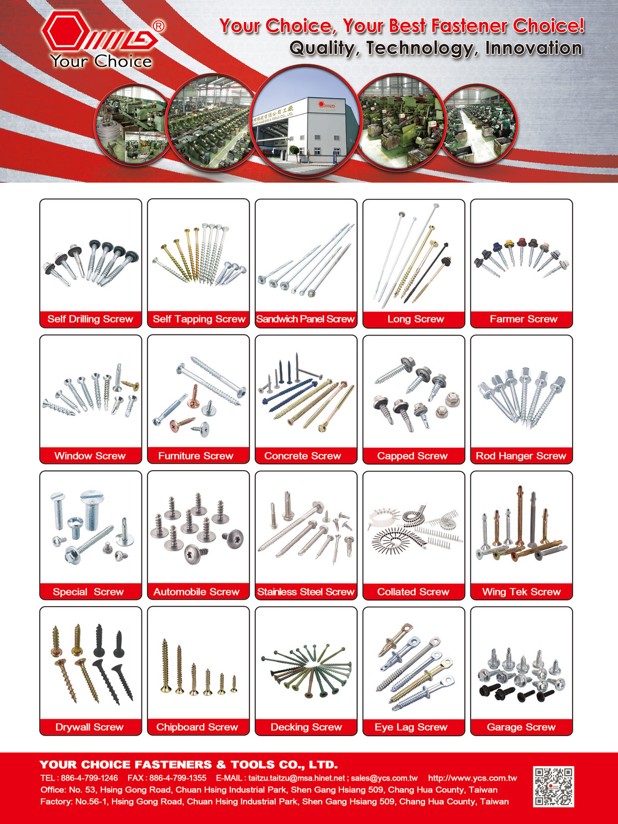 YOUR CHOICE FASTENERS & TOOLS CO., LTD.  Online Catalogues