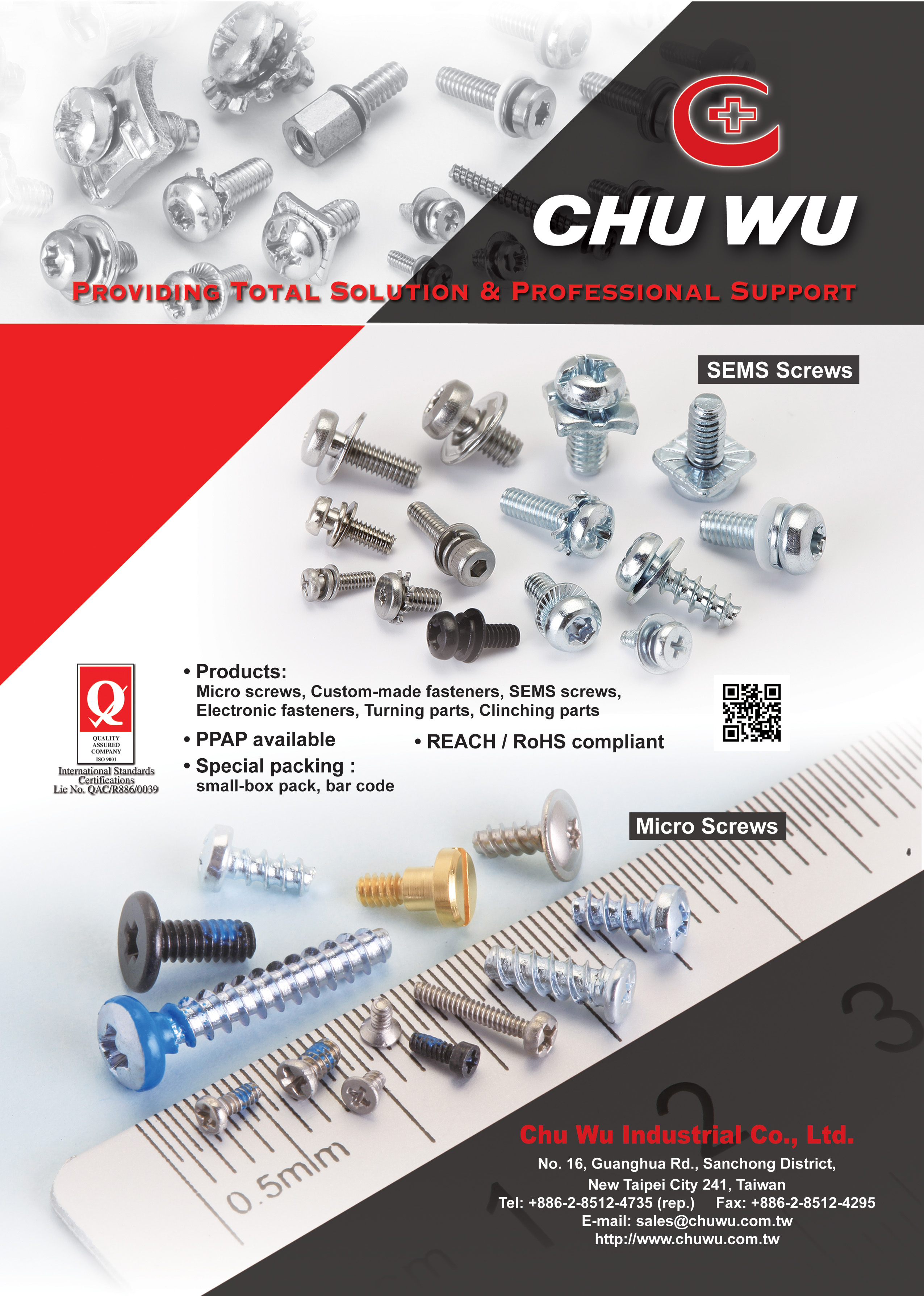 CHU WU INDUSTRIAL CO., LTD.  Online Catalogues