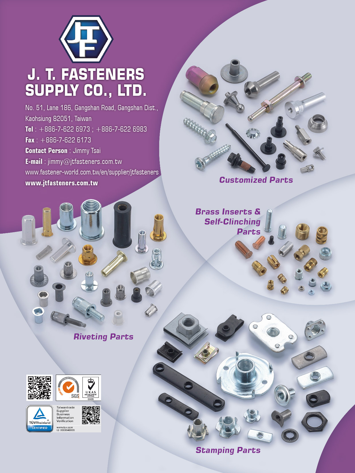 J. T. FASTENERS SUPPLY CO., LTD.  Online Catalogues