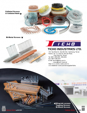 Collated Screws, Collated Nails, Bi-Metal Screws, Wing-tek Screws, Tapping Screws, Bi-Metal Screws