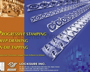 Progressive Stamping Deep Drawing In-Die Tapping(LOCKSURE INC. )