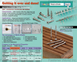 AUSTEK / DECK SCREW AUSTEK/ DECK SCREWAUSTEK / DECK SCREW(KATSUHANA FASTENERS CORP. )