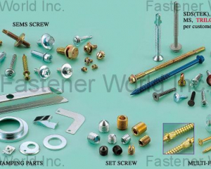 Sems Screw / Stamping Parts Set Screw / Multi-Former Screw / SDS (TEK), SMS(KATSUHANA FASTENERS CORP. )