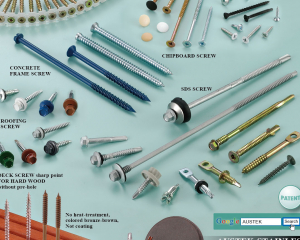 Collated Screws, Chipboard Screws, Drywall Screws, SDS Screws, Concrete Frame Screws, Roofing Screws, Deck Screws, No Magnetism(KATSUHANA FASTENERS CORP. )