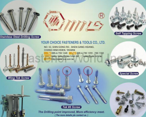 Window Screw / Drywall Screw / Chipboard Screw / Stainless Steel Tapping Sc(YOUR CHOICE FASTENERS & TOOLS CO., LTD. )