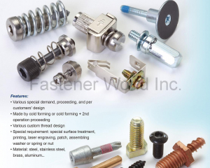 Custom made fastener(CHU WU INDUSTRIAL CO., LTD. )