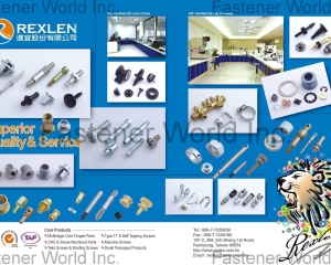Type TT & Self Tapping Screws, Machine Screws, Small Packaged Products, Teks Screws(REXLEN CORP. )