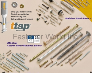ttap panted, Composite Screw, Long Size Screw, Stainless Steel Screw(NOVA. FASTENER CO., LTD. )