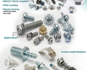 Micro Screws, Sems Screws, Custom-made Fasteners(CHU WU INDUSTRIAL CO., LTD. )