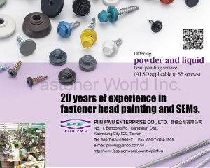 Fastener Head Painting & SEMs(PIIN FWU ENTERPRISE CO., LTD.)