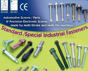 Standard/Special Industrial Fasteners (Automotive Screws / Parts & Precision Electronic Screws, Made by Multi-Stroke and Multi-Die Machines)(STARBEST ENTERPRISE CO., LTD. )