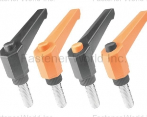 adjustable handles, levers, tensioning knobs, clamping knobs, plastic head screw(UJEN  DEVELOPMENT CO., LTD.)