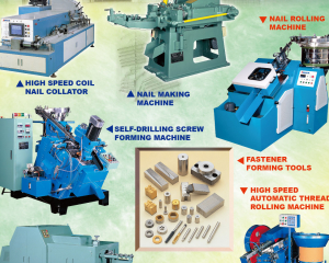 High Speed Coil Nail Collator, Nail Making Machine, Fastener Forming Tools, High Speed Automatic Thread Rolling Machine, High Speed Heading Machine(TICHO INDUSTRIES CO., LTD. )