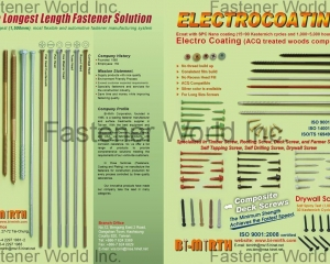 Long Fasteners, Electrocoating(BI-MIRTH CORPORATION)