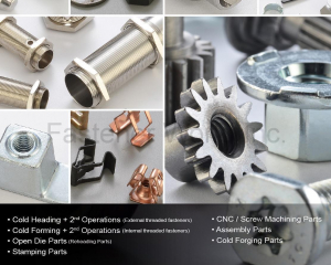 Cold Heading w/2nd Operations, Cold Forming w/2nd Operations, Open Die Parts, Stamping Parts, CNC/Screw Machining Parts, Assembly Parts, Cold Forging Parts(GOFAST CO., LTD. )