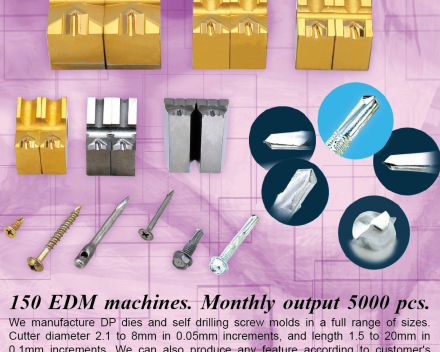 Self Drillig Screw Molds, Dries for rivets, Dies for screw tips, Pointing dies, Self-drilling dies(GIAN-YEH INDUSTRIAL CO., LTD. )