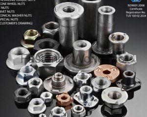 Hex Nuts / Square Nuts / Welding Nuts / Flange Nuts / Prevailing Torque Nuts / Cone Wheel Nuts / T-Nuts / Rivet Nuts / Conical Washer Nuts / Special Nuts (Customer's Drawing)(AUTOLINK INTERNATIONAL CO., LTD.)