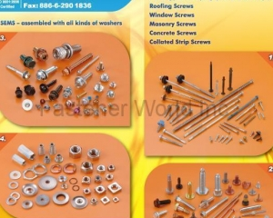 STAINLESS STEEL SCREWS, STAINLESS STEEL HIGH-LOW THREAD SCREWS(ABS METAL INDUSTRY CORP. )